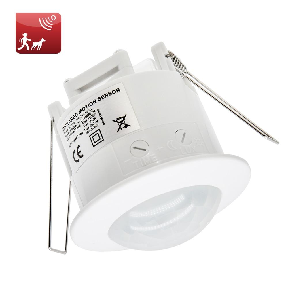 Kualitas Tinggi 360 Derajat 110 220 V Ac Langit Langit Dipasang Inlay Pir Motion Sensor Switch Untuk Lampu Led Lampu 1pc Et041 Lamp Switch Switch Pirsensor Light Switch Aliexpress