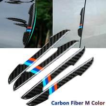 4 pçs porta do carro protetor adesivos tira amortecedor de fibra carbono acessórios do carro porta scratch scuff guarnição adesivos para bmw