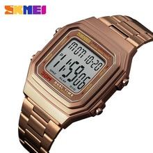 Digital Men's Watch Luxury Stainless Steel Men Wristwatch Waterproof Countdown Electronic Watches For Man Fashion Mens Clock
