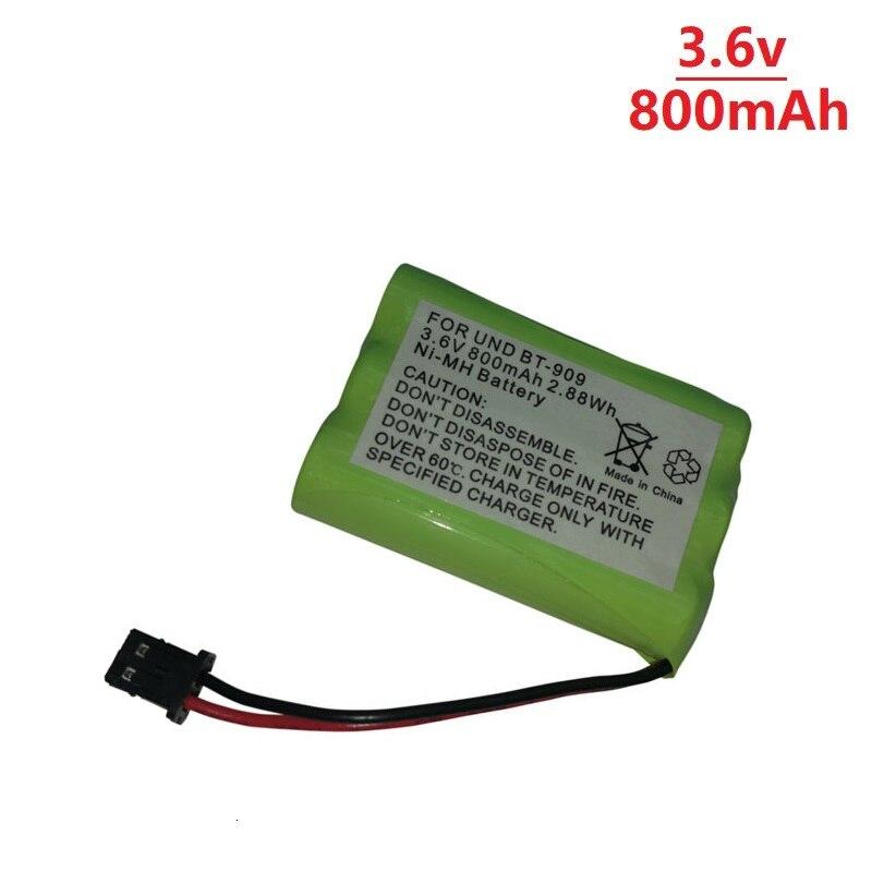 Bateria sem fio recarregável do telefone de 3.6v para baterias recarregáveis de uniden BT-909 bt909 3 * aaa ni-mh 800 mah 3.6v