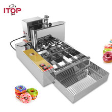ITOP Automatic Production Doughnut Maker Commercial Electric Donut Maker Stainless Steel 6cm Donut Making Machine eg6a electric commercial desktop mini donut fryer baking making maker machine