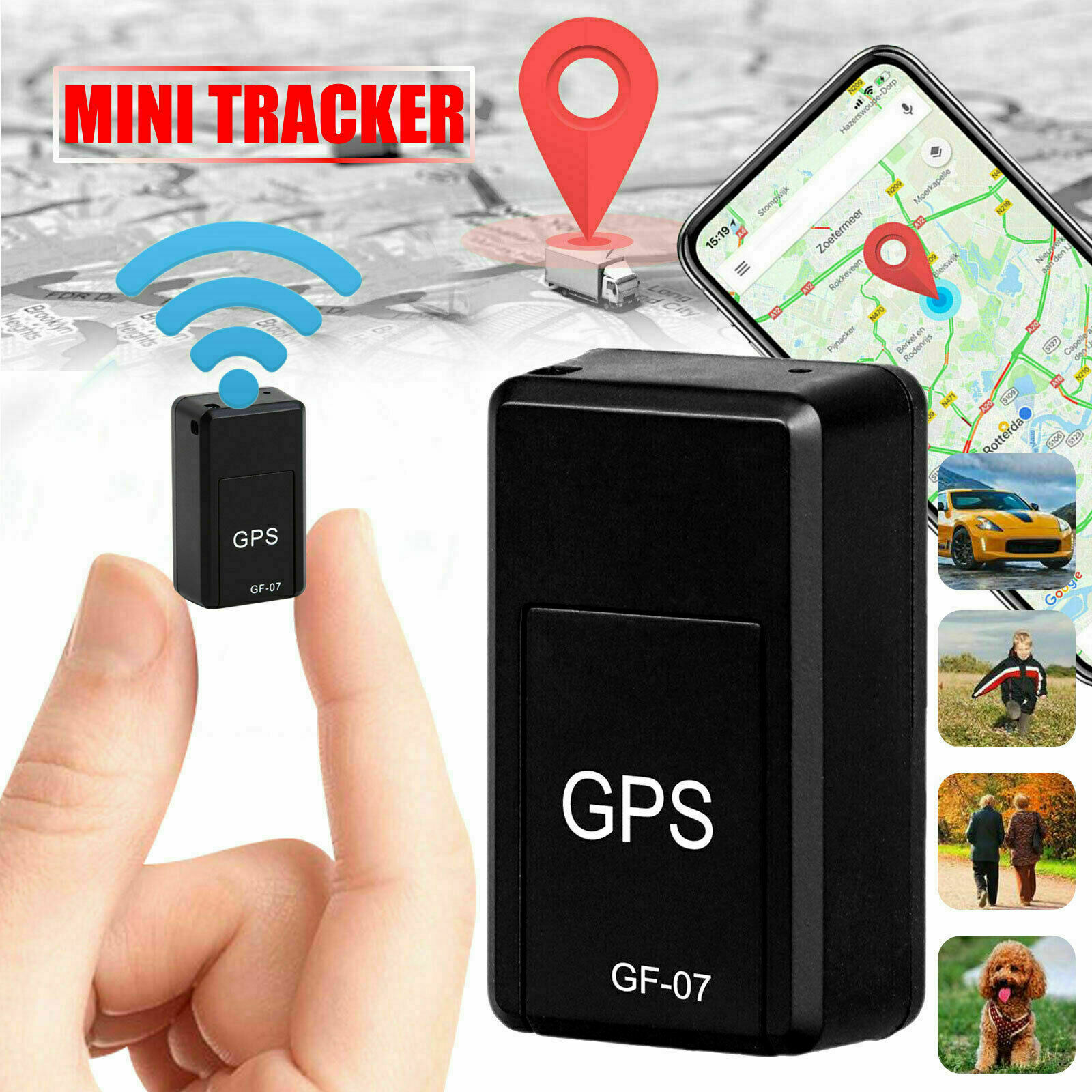 Magnetic Mini GPS Tracker Car Kids GSM GPRS Real Time Tracking Locator Device Anti-Lost Device Support Remote Operation Of Phone