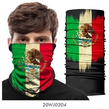 Seamless Bandana Mask Scarf Tube Buff Neck Gaiter Hunting Facemask Balaclava Headwear Army Military tour de cou Mexico USA Flag 2