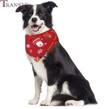 Transer Pet Products Christmas Character Printing Pet Dog Bandana Neck Bandage Scarf for Small Dog Cat 9107(China)