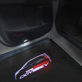 2 szt ODYSSEY emblemat LED dzięki uprzejmości światło do hondy ODYSSEY Car Styling ODYSSEY Car LED lampa przeciwmgielna tanie i dobre opinie CN (pochodzenie) Światło na powitanie 45 cm Car Door Light Logo Projector Light For HONDA Welcome Light Logo Projector Light LED Car Door Light Courtesy Light