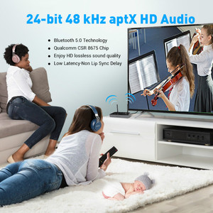 Image 5 - EKSA 3 in 1 Bluetooth 5,0 Audio Receiver Transmitter AptX LL/HD Für TV Lautsprecher Auto PC Wireless Adapter SPDIF RCA 3,5mm AUX NFC
