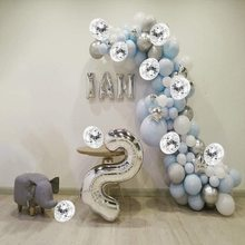 METABLE Blue and Silver  127 pcs Confetti Metallic Pastel Latex Balloons kit for Baby Shower Birthday Christmas Decorations