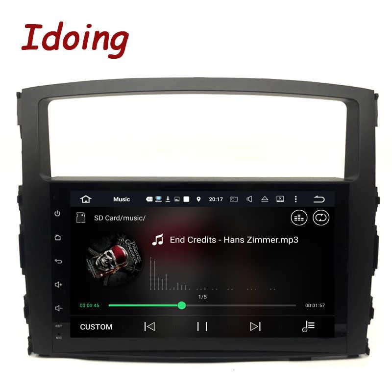 Idoing 2Din Volante Android7.1 4Core 2G + 16G Car Dvd Multimedia Video Player per Mitsubishi pajero V97 di Navigazione Gps per Auto