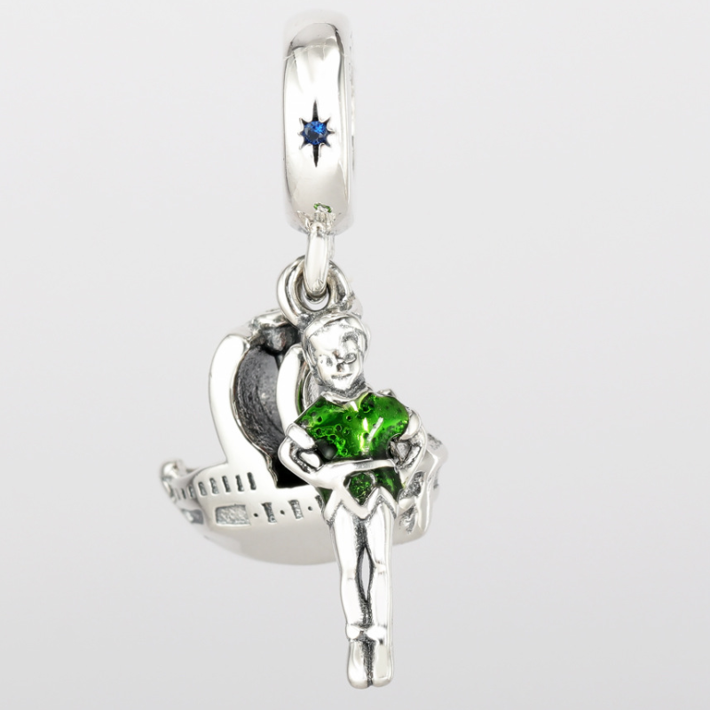Original 925 <font><b>Sterling</b></font> <font><b>Silver</b></font> Enamel Boat Peter <font><b>Pan</b></font> & Ship Dangle Charms Pendant Beads Fit Pandora <font><b>Bracelet</b></font> Women DIY Jewelry image