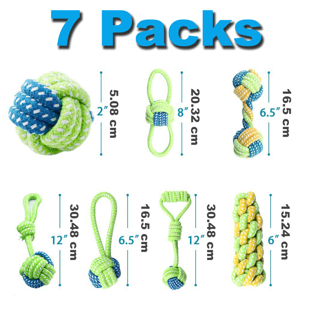 7 Pack Pet Dog Toys for Large Small Dogs Ball Toothbrush Interactive Dog Toys Christmas Products for Dogs Chew Toy Accessories 8