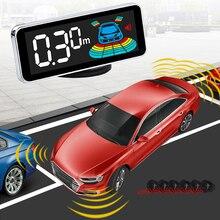 Car Auto Parktronic Alarm System 6 Sensors Display Led Digital Universal Reversing Red Voice Parking Sensor Kit Radar Detector