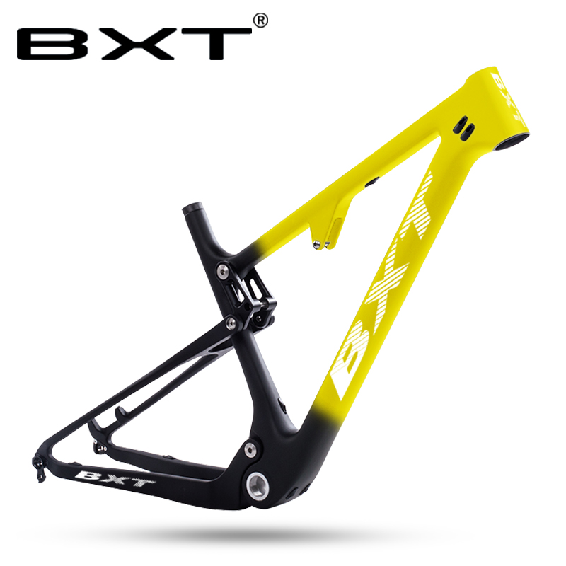 2020 Chinese Carbon Full Suspension Mtb Frame 29er Bicicletas Mountain Bike BSA Bicycle Parts Disc Carbon Frame Matte Glossy