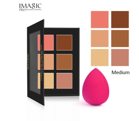 IMAGIC 6 Colors Concealer Cream Contour Palette Kit Pro Makeup Palatte Concealer Face Primer Net 30g All Skin 1pcs free shipping image