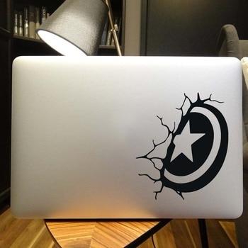 """Captain America Shield Laptop Sticker for Macbook Decal Pro 16"""" Air Retina 11 12 13 14 15 inch Mac Book Mi Notebook Skin Sticker"""