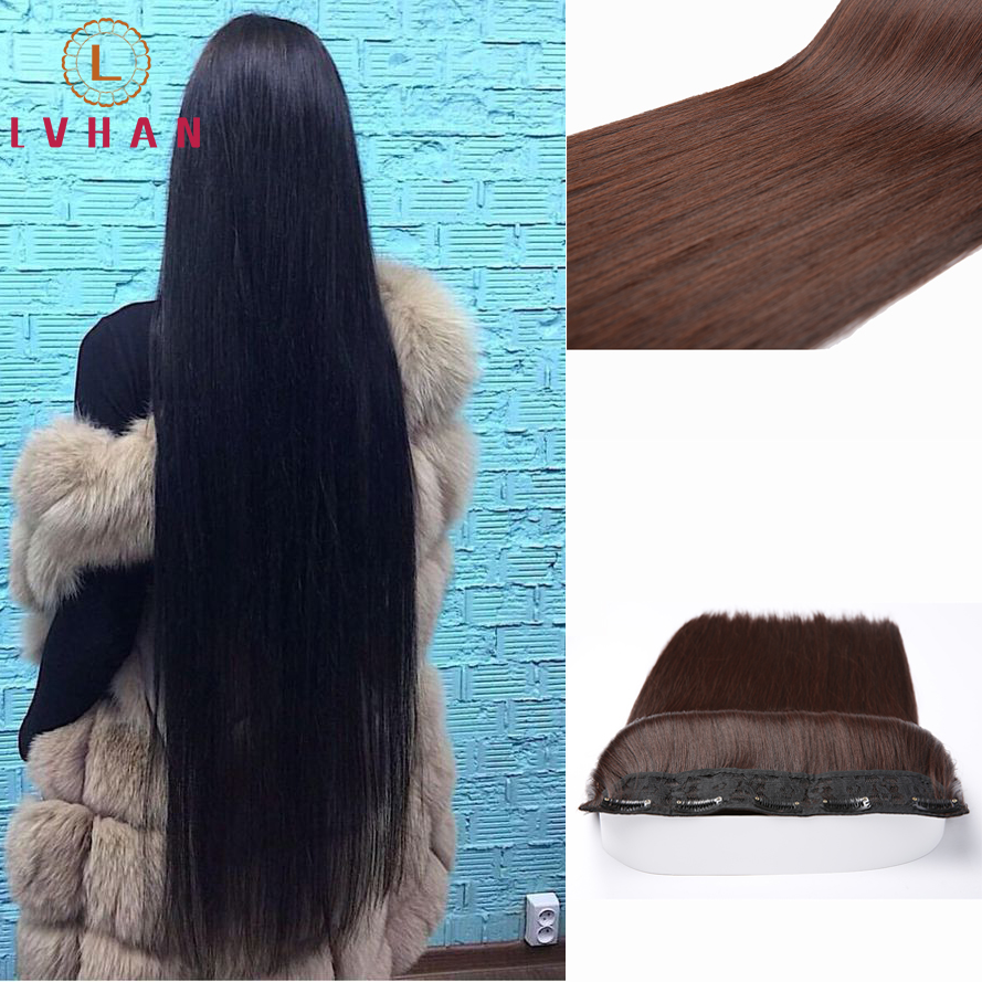 LVHAN Female long straight hair invisible seamless hair piece wig piece simulation hair replacement hair piece Hair extension
