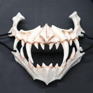 Image 4 - Маска для косплея на Хэллоуин, смола, дракон, Бог, Яша, маска, 2D, ужас, животное, тема, вечерние, животные, череп, маска для лица, маскарадная страшная маска