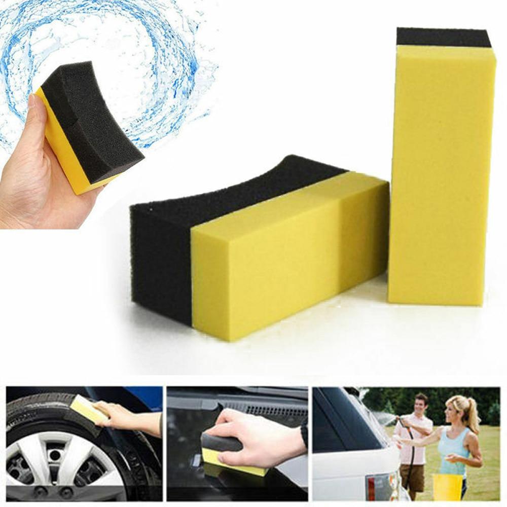 10pcs/set Car Multi-purpose Tyre Tire Dressing Applicator Curved Foam Brush Sponge Pad Cleaning Tools Car Tyre Brush Sponge