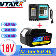 Avec Chargeur BL1860 Rechargeable Batterie 18 V6.8.9Ah D'ion de Lithium pour Batterie Makita 18 v 6ah BL1840 BL1850 BL1830 BL1860B LXT400
