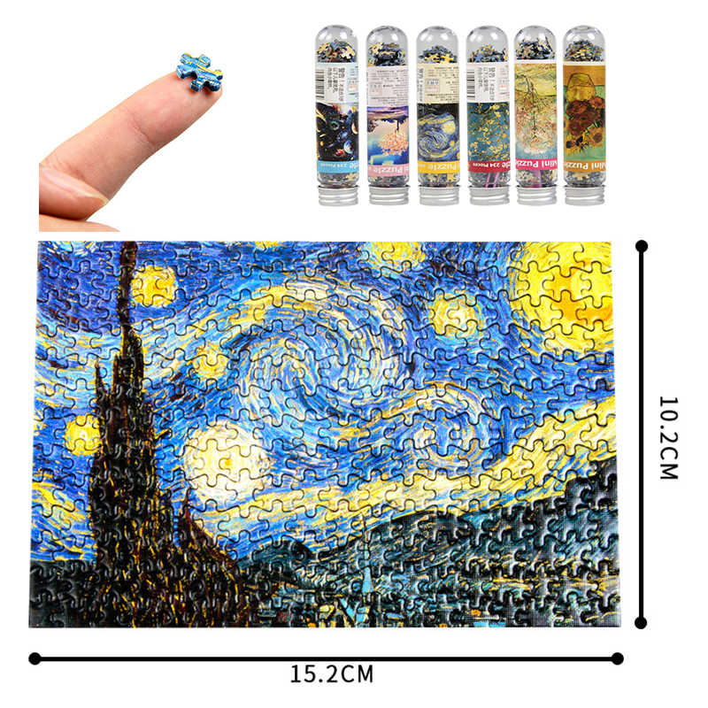 234 Pcs Mini Test Tube Puzzle Oil Painting Jigsaw Educational Toys DIY Kids Gift