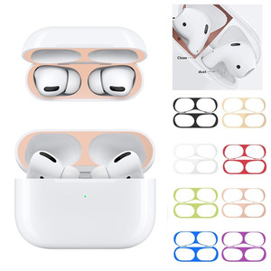 For Airpods Pro 2 Case Metal Dust Guard Wireless Earphones Dust Guard for Air pods 2 pro 3 1 Eirpods Airpots Skin autocolantes(China)