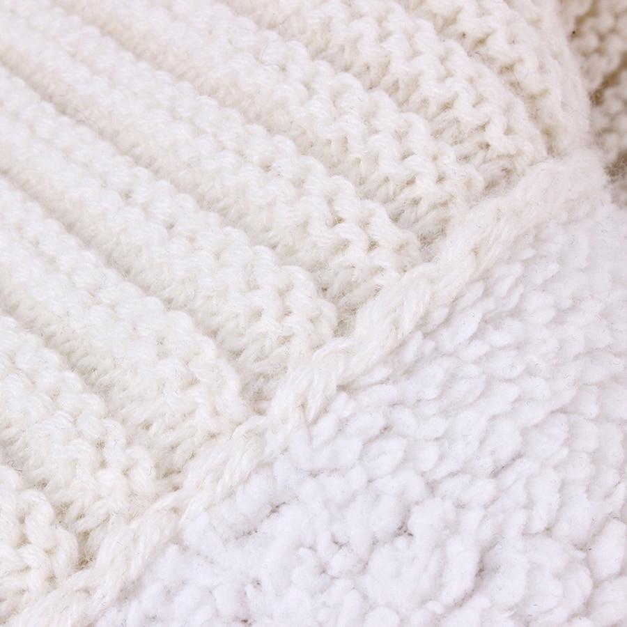 Image 4 - Baby Sleeping Bags Envelope Winter Warm Footmuff Toddler Blanket Wool Sleepsack Button Knit Swaddle Wrap Swaddling Stroller Wrap-in Blanket Sleepers from Mother & Kids