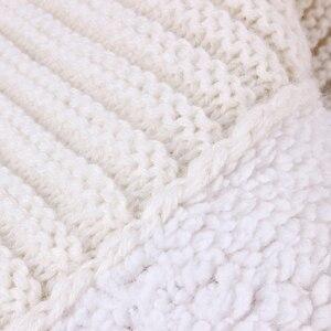 Image 4 - Baby Sleeping Bags Envelope Winter Warm Footmuff Toddler Blanket Wool Sleepsack Button Knit Swaddle Wrap Swaddling Stroller Wrap