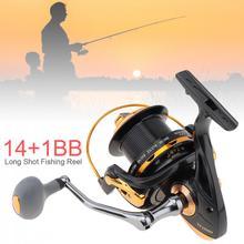 10000 série 12 + 1 roulements à billes 4.6:1 bobine de pêche à la traîne