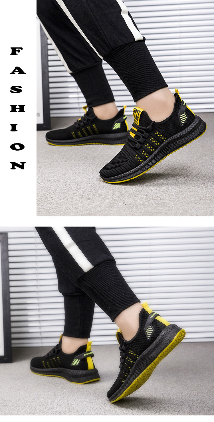 H8ba6f9aaa691447ea6168ff39ac45960v 2019 New Mesh Men Sneakers Casual Shoes Lac-up Men Shoes Lightweight Comfortable Breathable Walking Sneakers Zapatillas Hombre