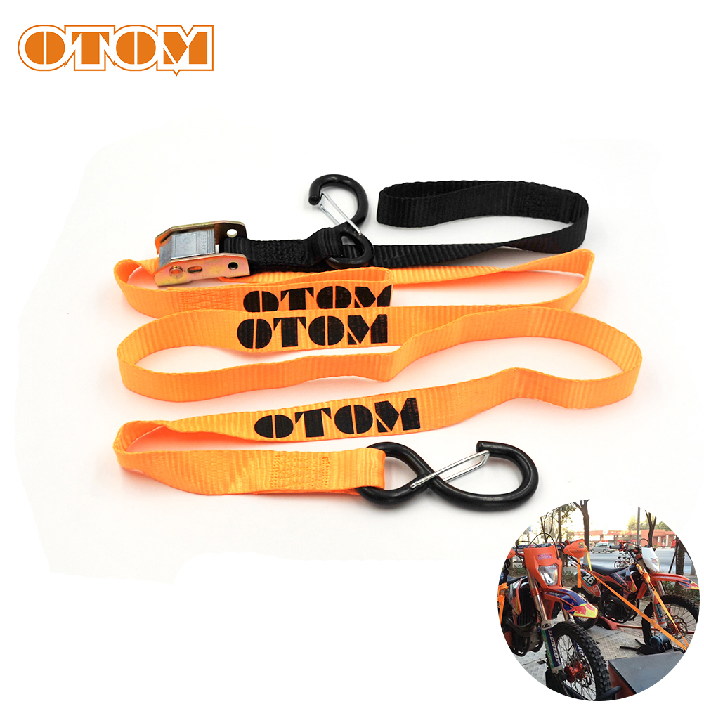 OTOM Motorcycle Fixed Strap Tension Rope Quick Release Buckle Universal Tie Downs For Honda YAMAHA SUZUKI KAWASAKI KTM 2pcs