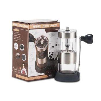 Przenośny młynek do kawy zmywalny ręczny młynek do kawy korba ręczna młyn do użytku domowego do użytku biurowego tanie i dobre opinie 哈密斯 (家电) CN (pochodzenie) Coffee Grinder Szlifierek zadziorów (stożkowe) Aluminium Elektryczne