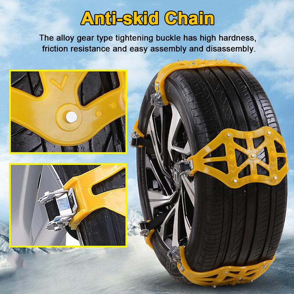 2019 New Car Tyre Winter Roadway Safety Tire Snow Thickened Adjustable Anti-skid Safety Double Snap Skid Wheel TPU Chains image