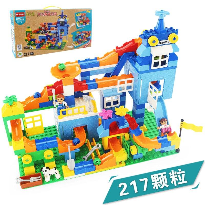 Hui mei 616 heureux qi ji le yuan multi-boîte de grandes particules Pipeline enfants assemblés blocs de construction jouet AliExpress