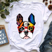 Женская милая футболка с мультяшным принтом питбуля топ женская