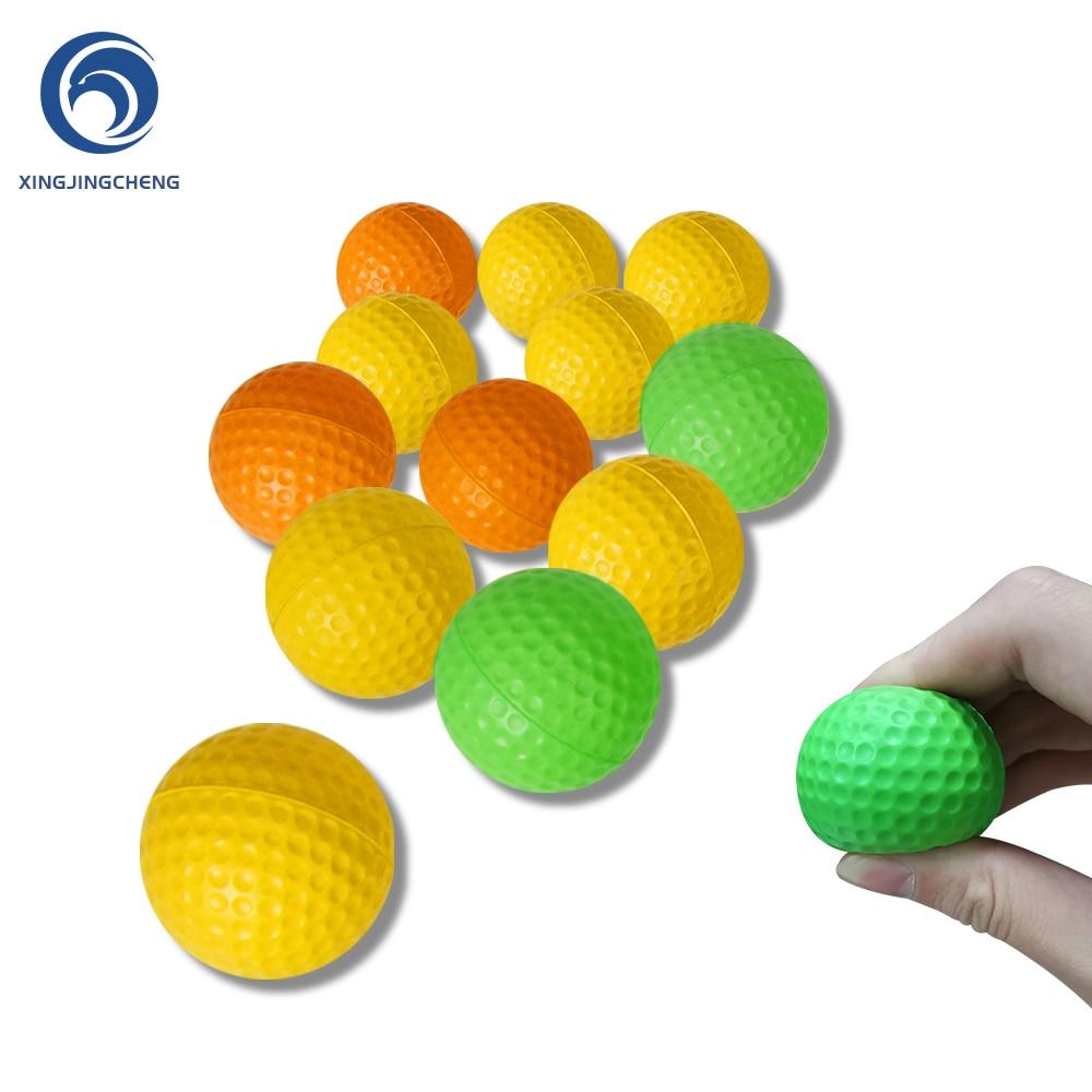 12Pcs Foam Practice Golf Balls Yellow Green Orange Golf Training Balls Outdoor Indoor Putting Green Target Backyard Swing Game
