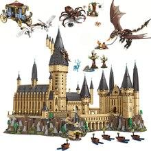 new harry magic hogwarts castle fit legoings harry potter castle city building blocks bricks kid 71043 diy educational toys gift Harri movie 2 Castle Magic Worlds Hogwartinglys Clock 6044 PCS 71043 Adult Building Blocks House Bricks City Toys For Children