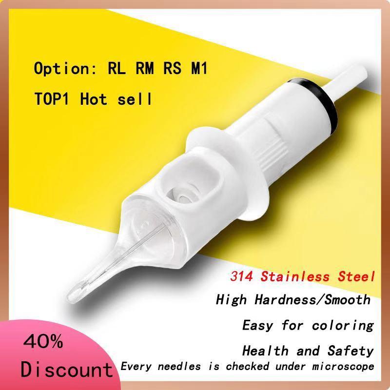 100pcs Cartridge Needle Permanent Makeup For Tattoo Machine Sterilize Tattoo Cartridge Needle RL1 RL3 RL5 RL7 9 14 Needle