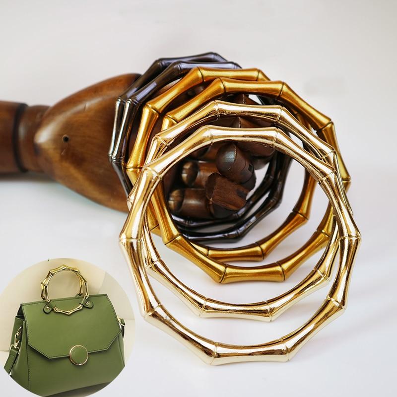 10 Pieces,11cm Natural Bamboo Rattan Bag Handles For Straw Bags,pastoral Style Nature Handmade Handbags Rattan Straw Bag Hanger