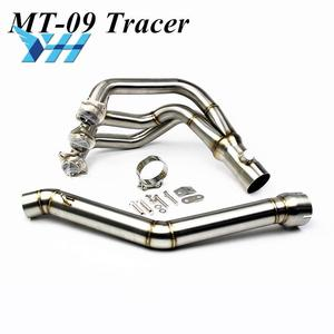 Slip-On Motorcycle Exhaust Scooter Front Pipe Full System MT 09 For Yamaha MT09 Tracer 900 / GT 2015 - 2019 2018 2017 2016