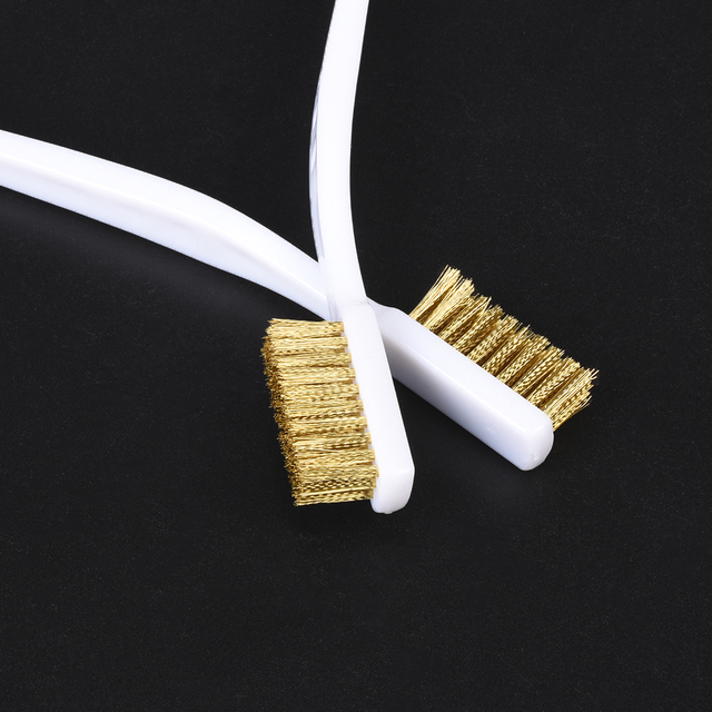 3D Printer Cleaner Tool Copper Wire Toothbrush Copper Brush Handle For Nozzle Heater Block Hotend Cleaning Hot Bed Parts 3