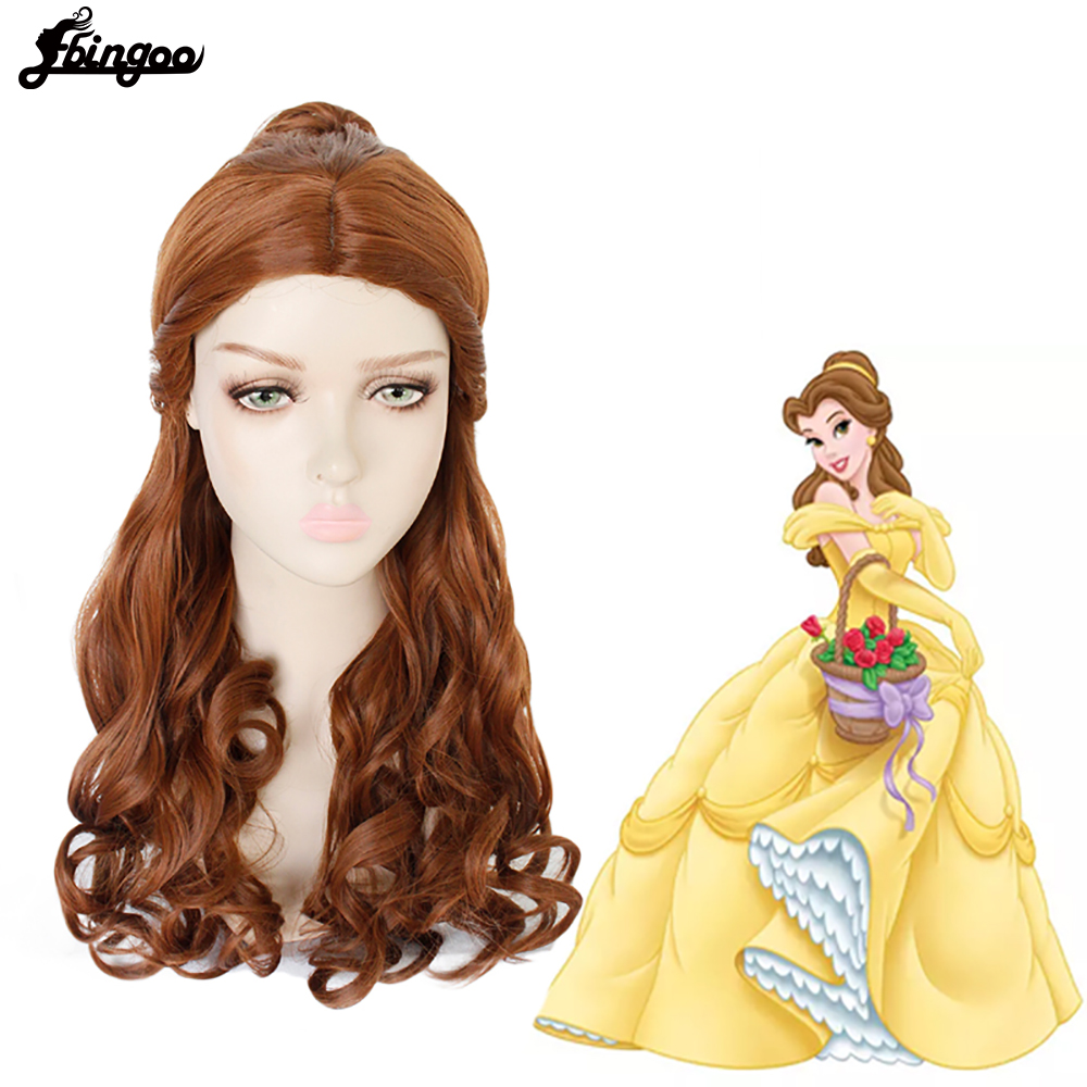 Image 3 - Ebingoo Merida Wig Orange Wig Tinker Bell Princress Belle Ariel Rapunzel Wig Brown Red Blonde Long Synthetic Cosplay Women WigSynthetic None-Lace  Wigs   -