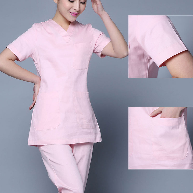 Medical Surgical Clothes White Coats Nurse Uniforms Women Long Sleeve Hospital Doctor Clothing Lab Coats Beauty Health Workwear