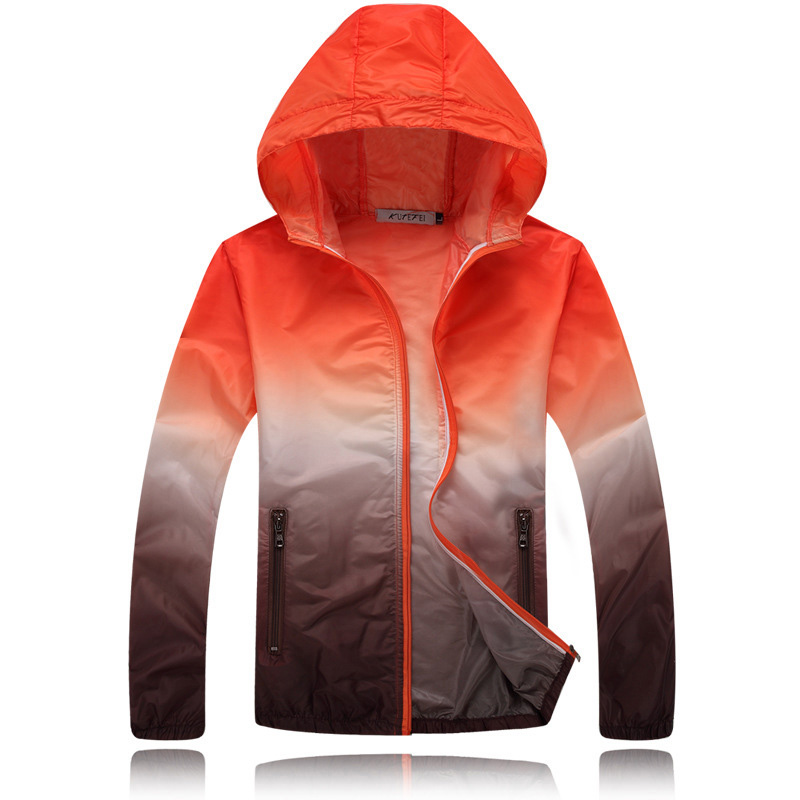 Spring And Summer 2019 Couple Windbreaker Jacket Sunscreen Waterproof Ultra Light Windbreaker Stand Collar Hooded Jacket