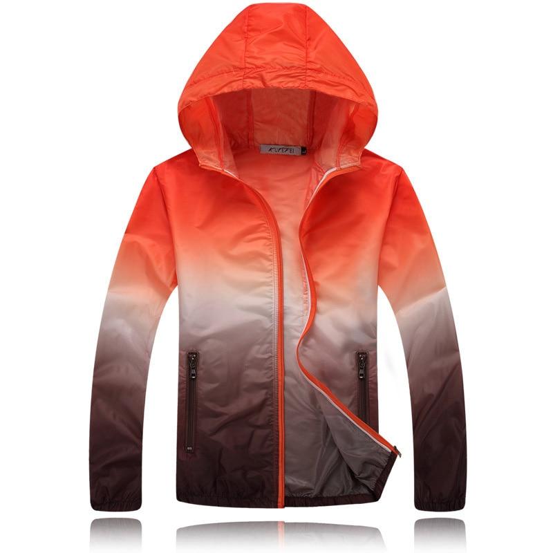 Spring And Summer 2019 Couple Windbreaker Jacket Sunscreen Waterproof Ultra Light Windbreaker Stand Collar Hooded Jacket