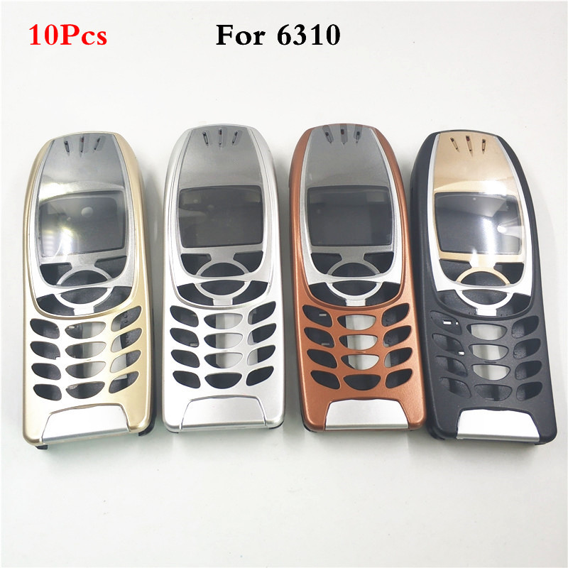 10Pcs New For <font><b>Nokia</b></font> 6310 Cover Case Housing <font><b>6310i</b></font> Battery Door Middle Frame Front Bezel Replace Part NO Phone Keyboard Keypad image