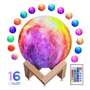 3D Moon Lamp Night light with 16 colors 3D Galaxy Lamp Toys Gifts for Boys Kids Globe Shape Dimmable Ball Planet Novelty Lamp