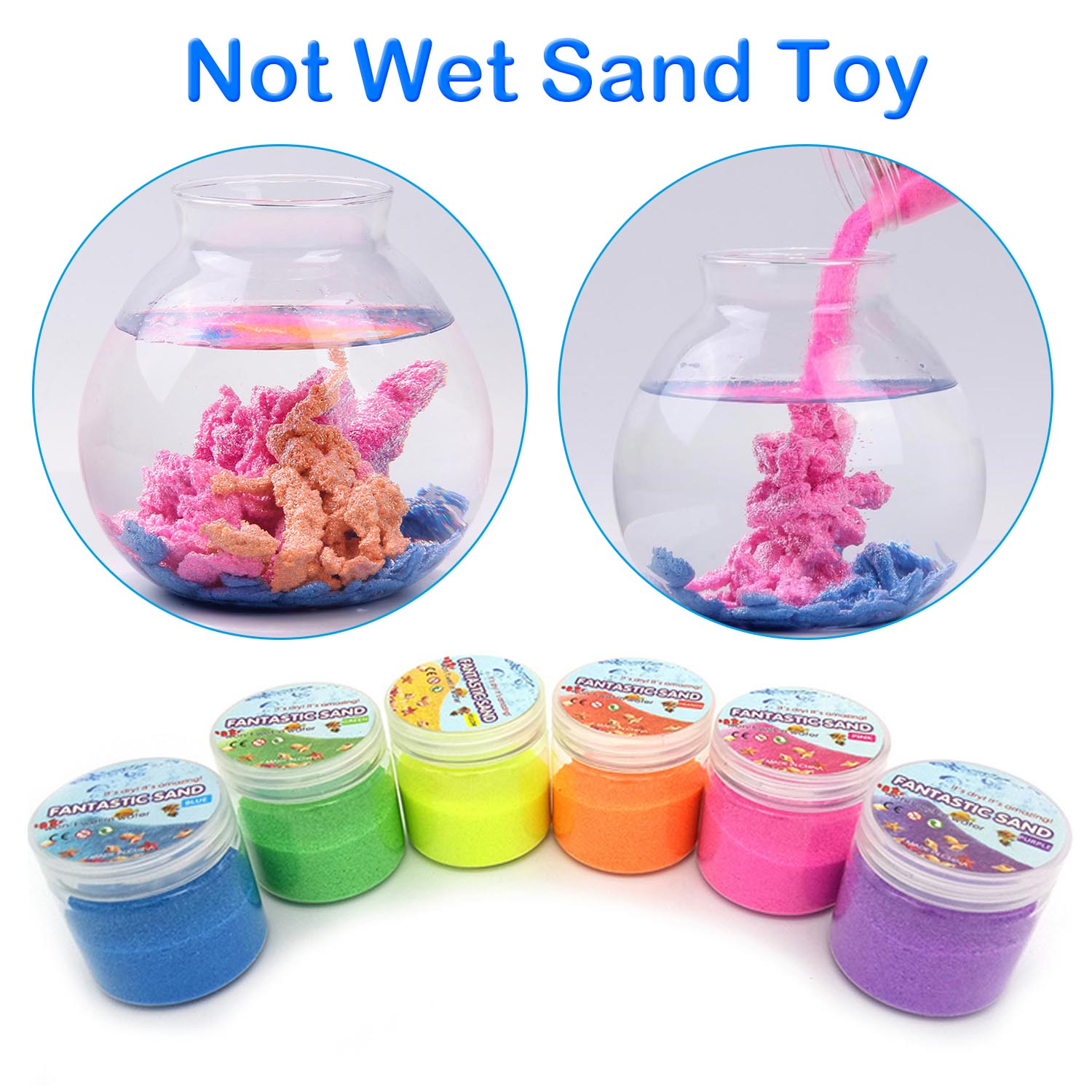 Kids DIY Magic Not Wet Sand Funny Amazing Non-toxic Hydrophobic Space Sand Slime Toy Molding Shaping Squeezing Castles Sand Toy