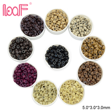 Micro-Beads Hair-Extension-Rings LOOF Shair Silicone 7-Colors 200pcs