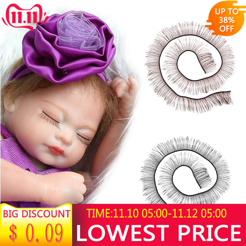20cm Eyelashes For Baby Dolls Cute Piecey Clusters Dolls Accessories Kids Children Toy Doll False Eyelashes Eyelashes