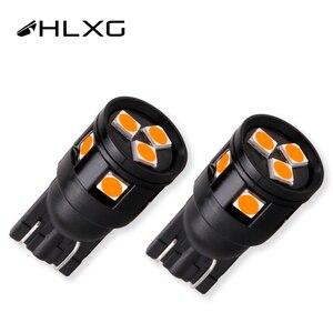 HLXG 2X T10 W5W LED 3030 Parking Turn Signals Clearance back up license plate car interior lights Instrument panel lamps 12V 24V