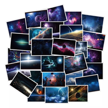 10/30/50PCS Fashion Gorgeous Dream Star Series Landscape Space Travel Cartoon Skateboard Guitar Graffiti Stickers Wholesale